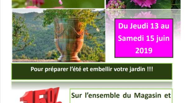 Promo 13-15 juin -15% Sur l'ensemble du magasin et Pépinière RIERA